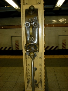 Subway art. Kind of like Pacific islands sculptures, no?