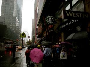 Vihmane ilm, Times Square