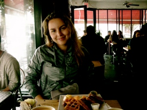 Waffles for breakfast @ Fabiane's, Bedford @  N 5th