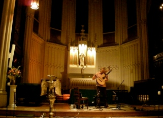 Jason Carter's harp guitar @ Calvary Church, New York