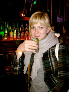 Hanna-Liina @ the vodka bar